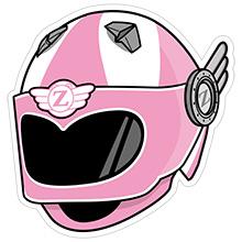 Z伝説ヘルメット(ピンク)左